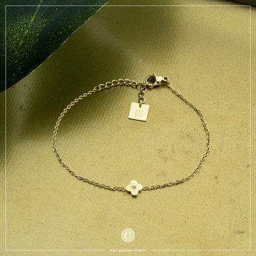 Zag Bijoux Zag Bijoux Armband Bloem Goudkleurig