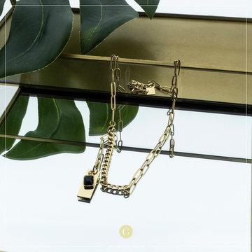 Zag Bijoux Zag Bijoux Necklace Chuncky Chain Goudkleurig