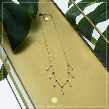 Zag Bijoux Zag Bijoux Ketting Crystallen Beads Goudkleurig