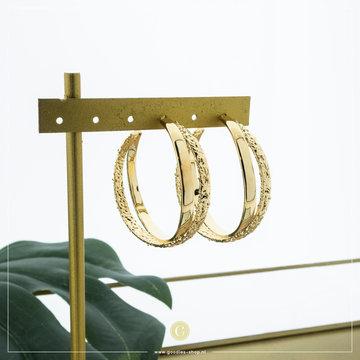 Zag Bijoux Zag Bijoux Oorbellen Dubbele Ring Goudkleurig