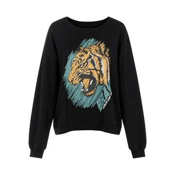 Pieces Pieces Sweater Zwart Tijger