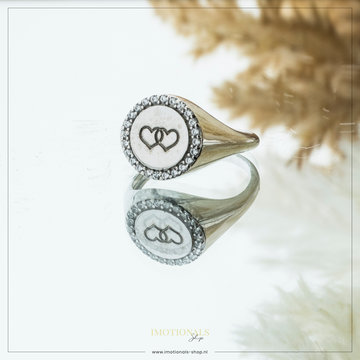 Imotionals Imotionals Vintage Hearts Ring Zilverkleurig
