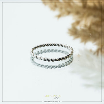 Imotionals Imotionals Twisted Ring Zilverkleurig