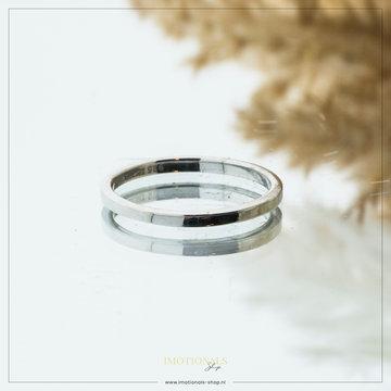Imotionals Imotionals Plain Ring Zilverkleurig