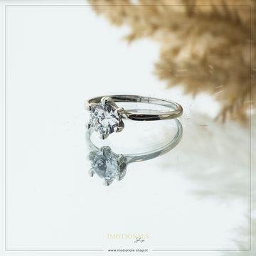 Imotionals Imotionals Diamond Large Ring Zilverkleurig