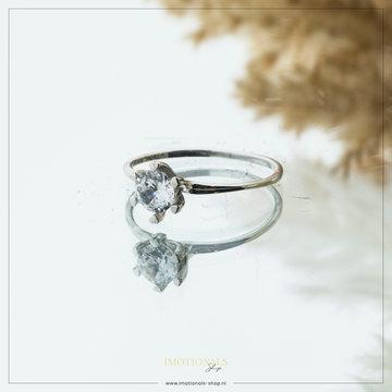 Imotionals Imotionals Diamond Medium Ring Zilverkleurig