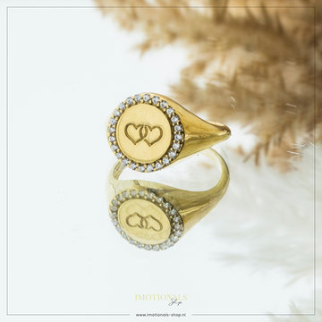 Imotionals Imotionals Vintage Hearts Ring Goudkleurig