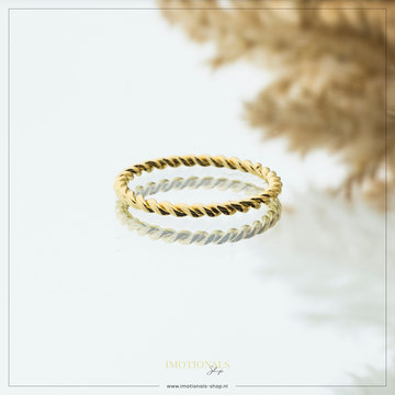 Imotionals Imotionals Twisted Ring Goudkleurig