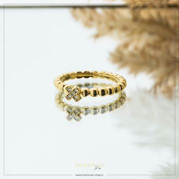 Imotionals Imotionals X Zirconia's Ring Goudkleurig