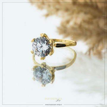 Imotionals Imotionals Diamond XL Ring Goudkleurig