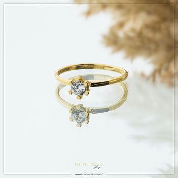 Imotionals Imotionals Diamond Small Ring Goudkleurig
