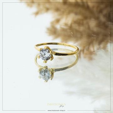 Imotionals Imotionals Diamond Medium Ring Goudkleurig