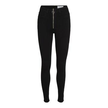 Noisy May Noisy May Zwarte Skinny Jeans Met Rits