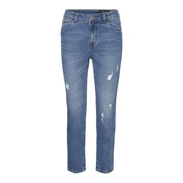 Noisy May Noisy May Straight Fit Medium Blue Jeans