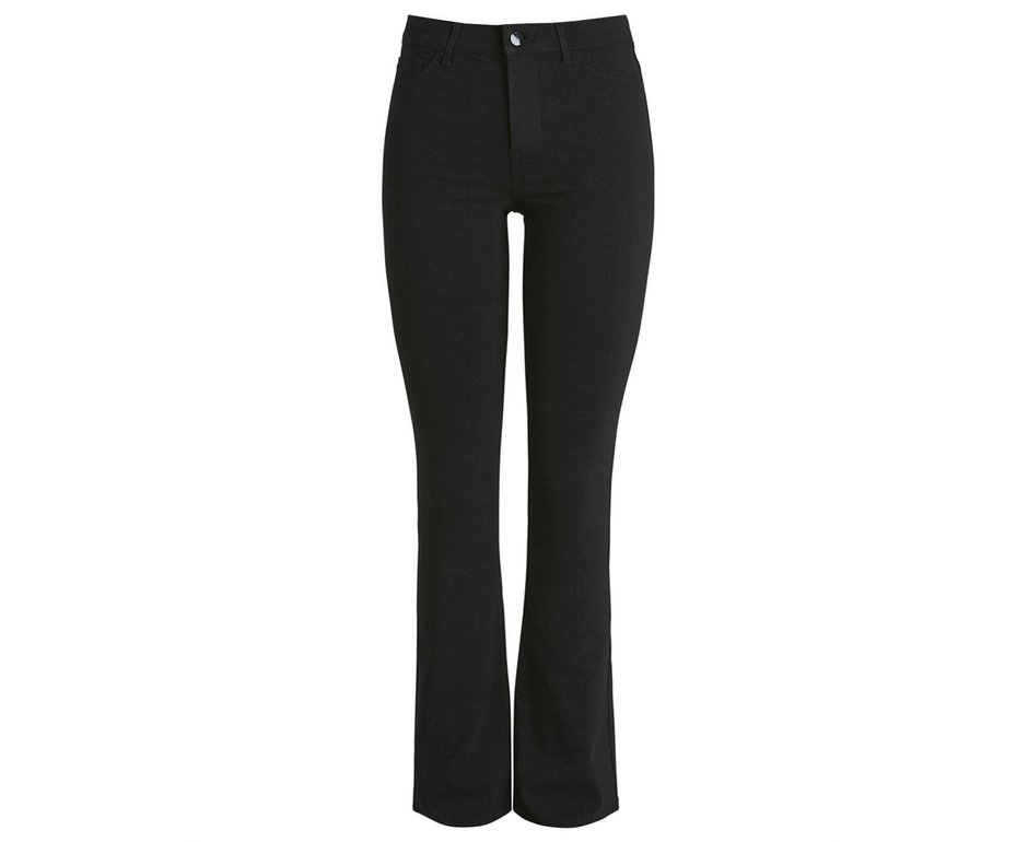 Pieces Pieces PC Skin Flared Pants Black