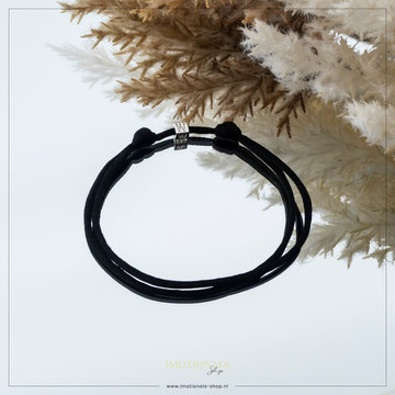 Imotionals Imotionals Silk Cords Met Blok Letter W Zilver