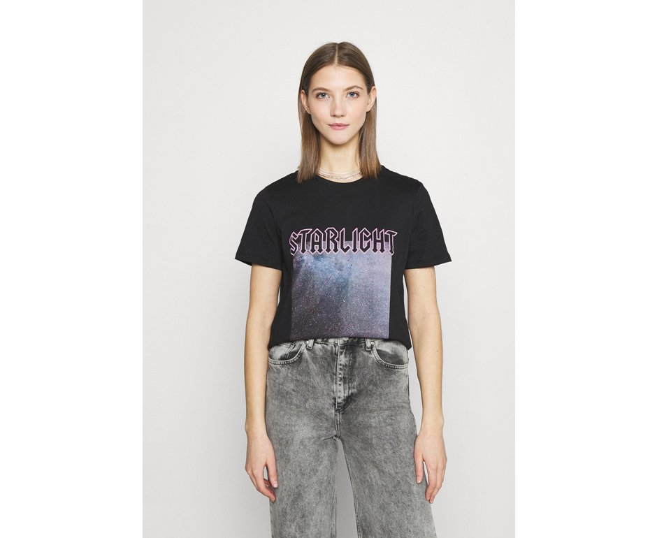 Pieces Pieces PC Drea SS Tee Black Starlight