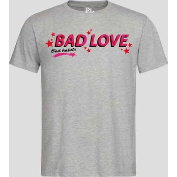 Pinned by K Pinned by K Statement T-shirt Grijs Bad Love