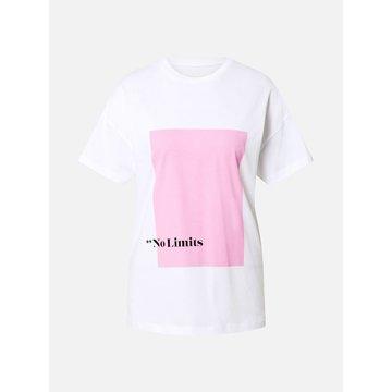 Noisy May Noisy May T-Shirt Wit No Limits