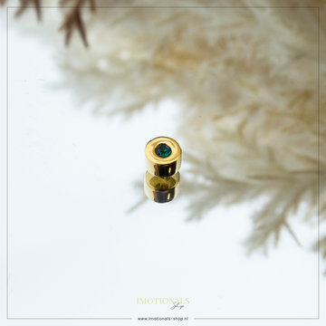 Imotionals Imotionals Birth Stone Hanger Mei Emerald Goudkleurig