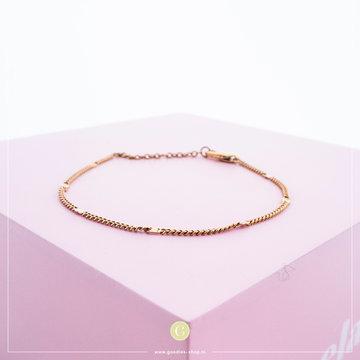 Melano Armband Flat Anchor Rosé