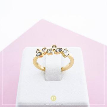 Melano Ring Mosaic Crystal