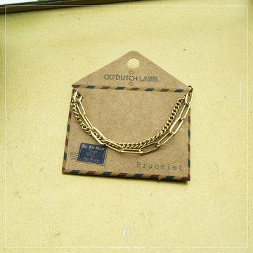 Go Dutch Label Go Dutch Label Goudkleurige Dubbele Armband Schakel