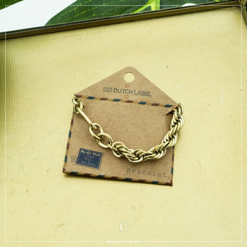 Go Dutch Label Go Dutch Label Goudkleurige Armband Chain