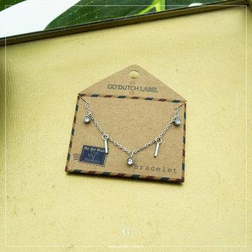 Go Dutch Label Go Dutch Label Zilverkleurige Armband Staafjes & Coins