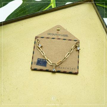 Go Dutch Label Go Dutch Label Goudkleurige Armband Crystallen Triangles