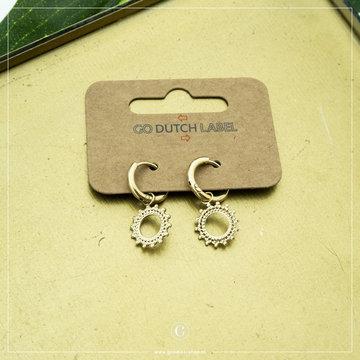 Go Dutch Label Go Dutch Label Goudkleurige Oorbellen Zon