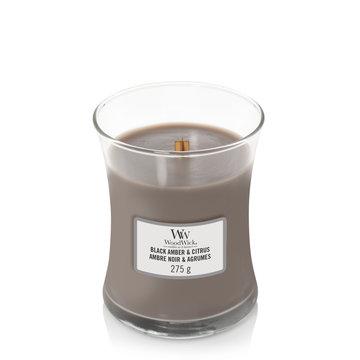 WoodWick Woodwick Black Amber & Citrus Medium Candle