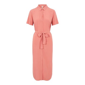 Pieces Pieces Cecilie SS Long Dress Noos Canyon Rose