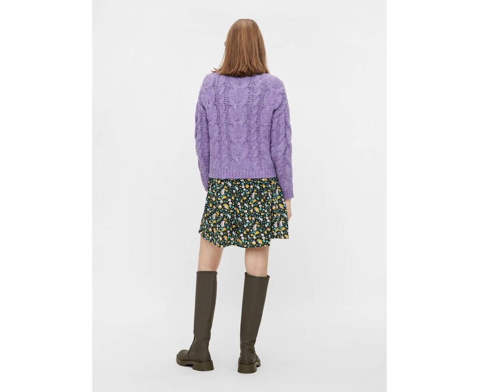 Pieces Pieces PC Fittal Knit Cardigan Dahlia Purple