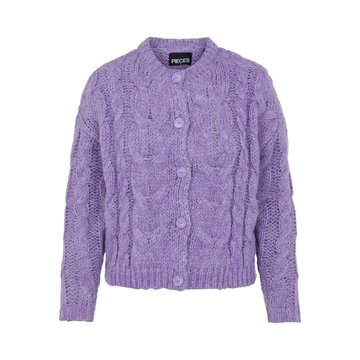 Pieces Pieces Fittal Knit Cardigan Dahlia Purple