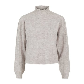 Pieces Pieces Giana LS High Neck Knit Warm Taupe