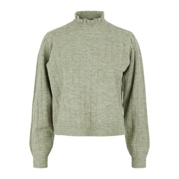 Pieces Pieces Giana LS High Neck Knit Shadow