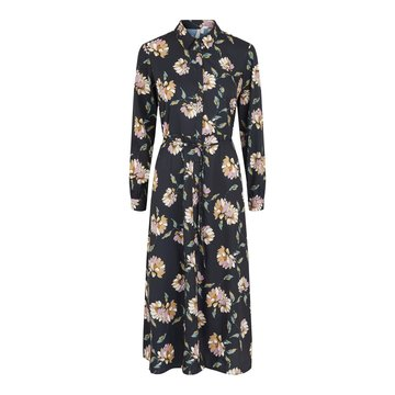 Pieces Pieces PC Gyllian LS Midi Dress Black / Big Flower