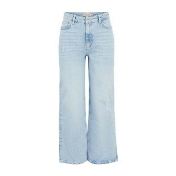Pieces Pieces PC Sui Mini Wide Ankle Jeans Light Blue Denim