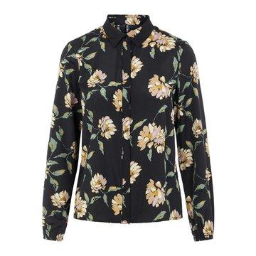 Pieces Pieces Gyllian LS Shirt Black / Big Flower