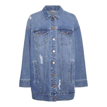 Noisy May Noisy May NM Fiona Denim Jacket Destroyed Light Blue