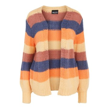 Pieces Pieces PCLilo Knit Cardigan Canyon Rose / Block