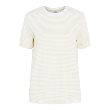 Pieces Pieces PC Ria SS Fold Up Tee Noos BC Bright White/ Pale Banan
