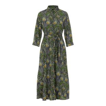 Pieces Pieces PC Rosia 3/4 Midi Shirt Dress D2D Seagrass/Peacock