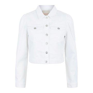 Pieces Pieces PC Greyson LS CR Jacket-VI BC Bright White