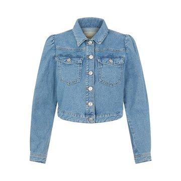 Pieces Pieces PC  Greyson LS CR Jacket VI BC Light Blue