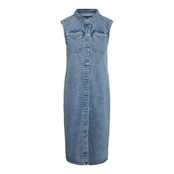 Noisy May Noisy May NM Minetta S/L Pckt Dnm Dress KO Light Blue Denim