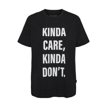 Noisy May Noisy May NM Wendy S/S Kinda T-Shirt BG Black/Kinda Care