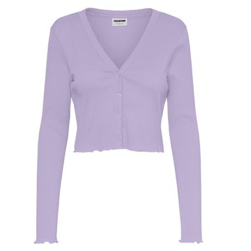 Noisy May Noisy May NM Drakey L/S Cropped Cardigan BG Pastel Lilac