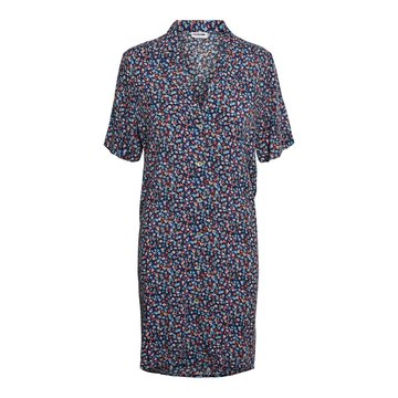 Noisy May Noisy May NM Asta S/S Shirt Dress Black/Flower DUB
